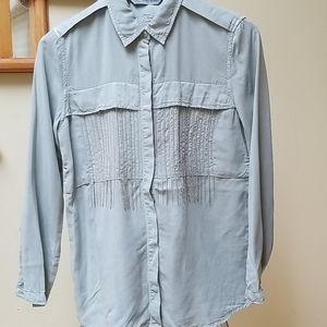 🎈2/$12🎈Zara Shiny Rhinestone Fringe Shirts